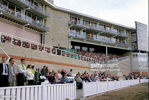 The crowd in the Bedser Stand watching the 2nd Texaco Trophy One Day International between England and New Zealand at The Oval London 25th May 1990