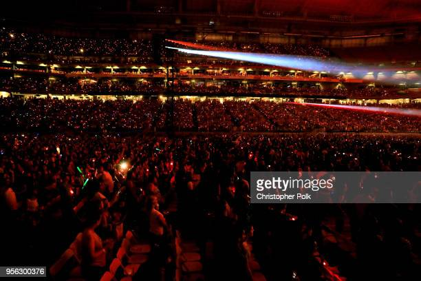 The crowd is seen during opening night of Taylor Swift's 2018 Reputation Stadium Tour at University of Phoenix Stadium on May 8 2018 in Glendale...