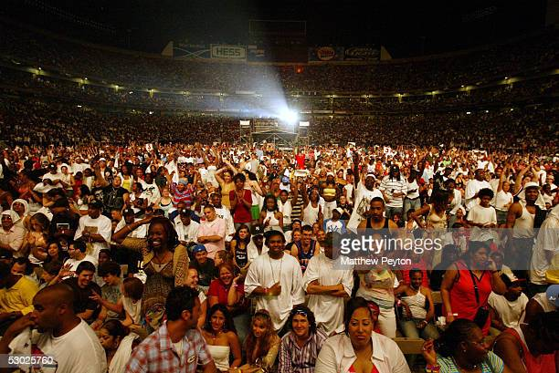 The crowd is seen during the Hot 97 Summer Jam 2005 Concert June 5 2005 at Giant Stadium in East Rutherford New Jersey