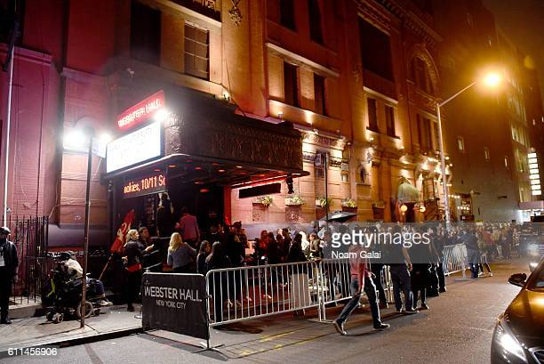 The crowd lines up outside of Webster Hall at the 2016 Advertising Week New York Wrap Party on September 29, 2016 in New York City.