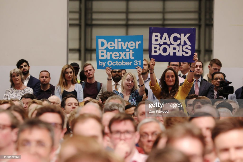 Boris Johnson And Jeremy Hunt Take Part In The Final Hustings Of The Conservative Leadership Campaign : News Photo