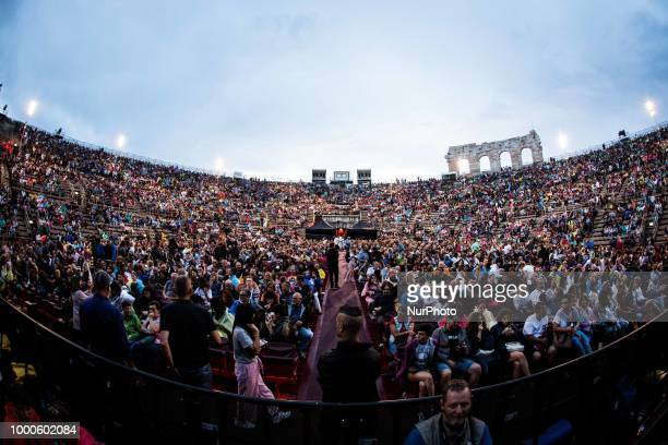 The american singer and songwriter Lenny Kravitz performing live at Arena in Verona Italy