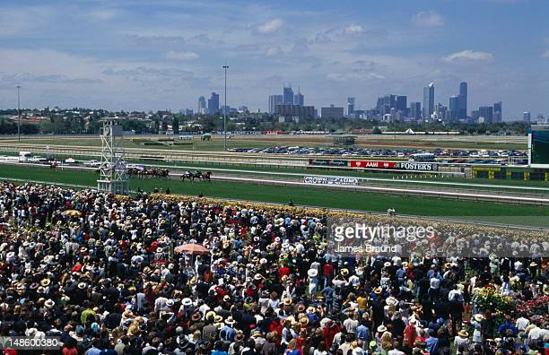 The crowd on Oaks Day during Melbourne's Spring Racing Carnival.