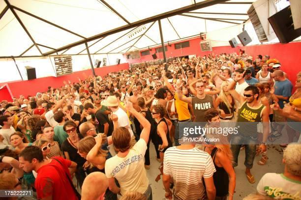The crowd on the dancefloor Circo Loco DC10 Ibiza 2005