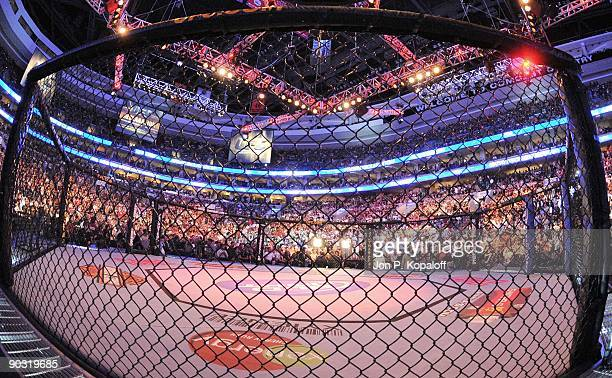 The crowd reacts at UFC 101 Declaration at the Wachovia Center on August 8 2009 in Philadelphia Pennsylvania