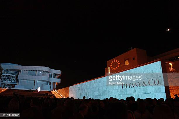 """The crowd wait for """"The Moment"""" during the Pacific Standard Time: Art in LA 1945-1980 opening event held at the Getty Center on October 2, 2011 in..."""