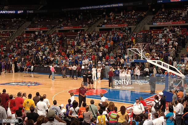 The crowd waits for the referees to review the fouls during a game featuring the Detroit Shock against the Los Angeles Sparks on July 22 2008 at the...