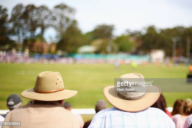 The crowd watches on during the Country Rugby League South Coast Group 7 Grand Final match between the Warilla Lake South Gorillas and the Gerringong...
