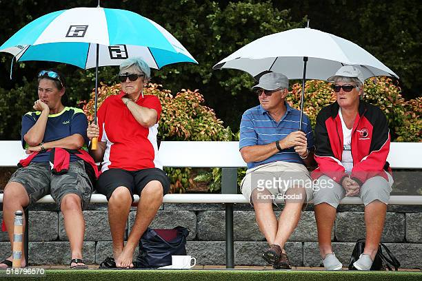 The crowds enjoy the finals during the Bowls New Zealand Intercentre at Howick Bowling Club on April 3 2016 in Auckland New Zealand