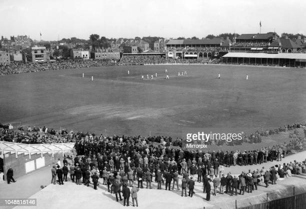 The crowds that went to see the test match and the crowds that stayed away. The crowd of 15,000 who had plenty of room at the Test match at the Oval....