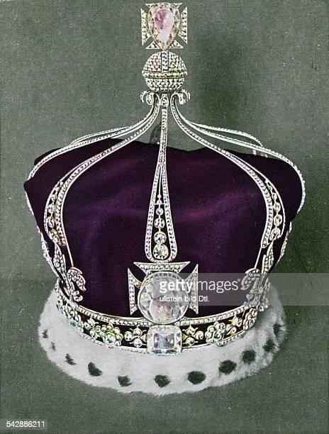 The crown of Queen Mary of England In the front The KohINoor diamond undated colored
