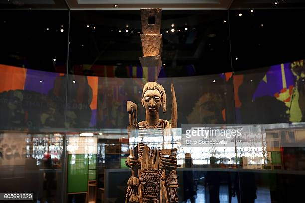 The crown on the head of this sculpture by Nigerian artist Olowe of Ise helped inspire the design of the Smithsonian's National Museum of African...