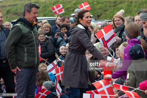 The Crown Prince couple during the fourth day of their visit to the Faroe Islands on August 25 2018 in Hvalvik The Faroe Islands The Faroe Islands...