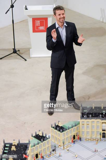 The Crown Prince Frederik of Denmark applause during the opening of the exhibition 'A Royal Modern Household' at The Danish Cultural Center in 798...
