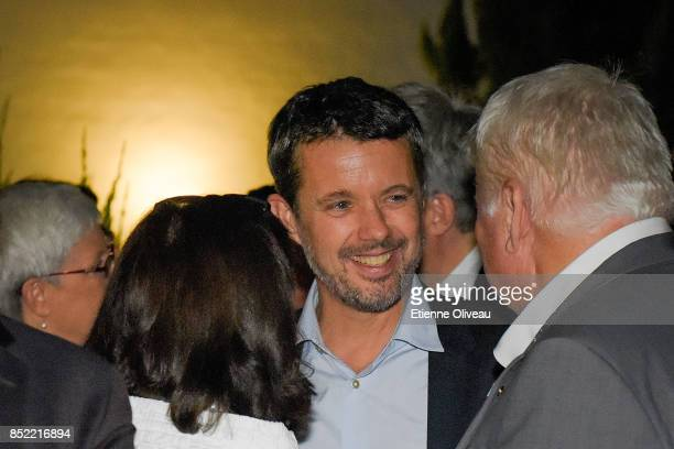 The Crown Prince Frederik of Denmark attends an informal dinner at the ambassador's residence on September 23 2017 in Beijing China