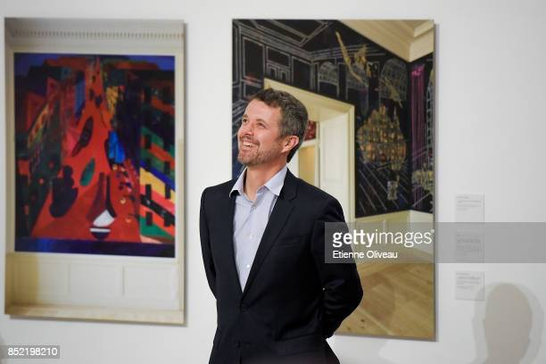 The Crown Prince Frederik of Denmark attends the opening of the exhibition 'A Royal Modern Household' at The Danish Cultural Center in 798 Art...
