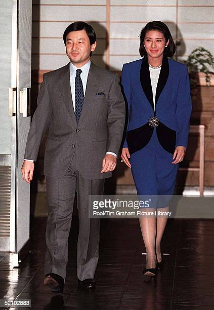 The Crown Prince Naruhito And Crown Princess Masako Of Japan In Tokyo Japan
