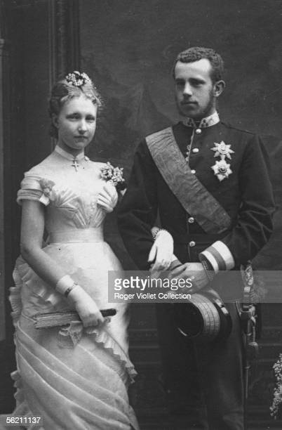 The crown prince of Austria Rodolphe and the princess Stephanie of Belgium, his wife.