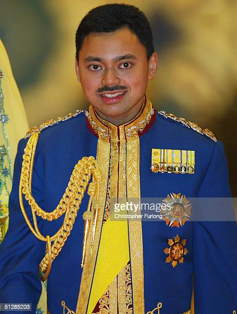 The Crown Prince of Brunei attends the Majlis Istiadat Persantapan Pengantin Diraja following the wedding of His Royal Highness PCrown Prince...