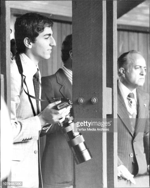 The Crown Prince of Iran Prince Reza Pahlavi visits Taronga ZooThe Crown Prince of Iran armed with his 35mm camera and telephoto lens takes...