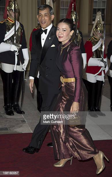 The Crown Prince Of Thailand And Princess Srirasm Of Thailand Arriving For A Dinner Hosted By Prince Charles Prince Of Wales And Camilla Duchess Of...