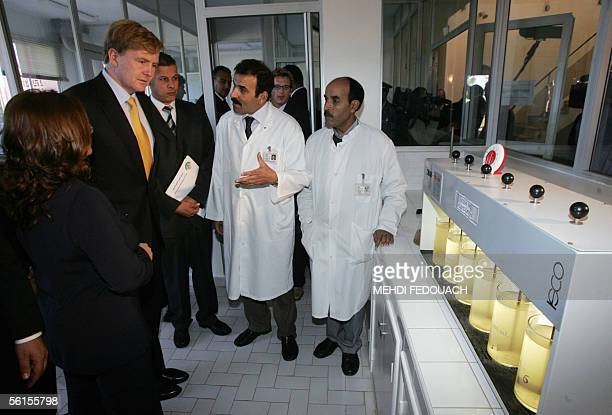 The crown prince of The Netherlands, Willem Alexander , visits 14 November 2005, the ONEP in Sidi Moussa, Morocco. Willem Alexander and his wife...