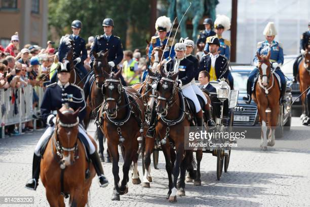 The Crown Princess Family is being escorted from the Royal Palace to the Royal Stables in a horse drawn carriage on the occasion of The Crown...