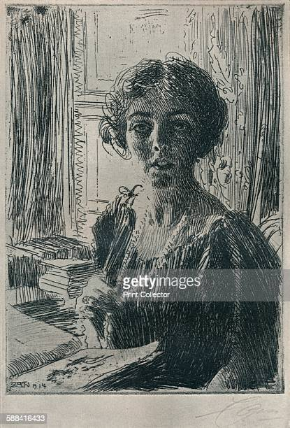 The Crown Princess Margaret of Sweden' 1914 Crown Princess Margaret of Sweden From The Studio Volume 68 Artist Anders Leonard Zorn