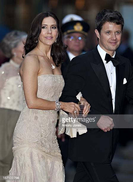 The Crown Princess Mary Of Denmark And The Crown Prince Attend A Concert At The Stockholm Concert Hall In Stockhlom Sweden.