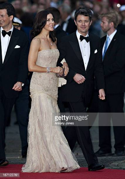The Crown Princess Mary Of Denmark And The Crown Prince Attend A Concert At The Stockholm Concert Hall In Stockhlom Sweden