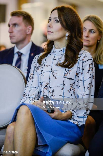 The Crown Princess Mary of Denmark attends a panel discussion on the programme of the fight with diabetes at Bristol Hotel November 25 2019 in Warsaw...