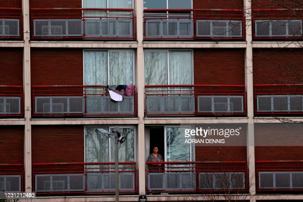 The Crowne Plaza hotel at Heathrow is being used to house migrants as they wait for their asylum claims to be processed on February 16, 2021 in west...