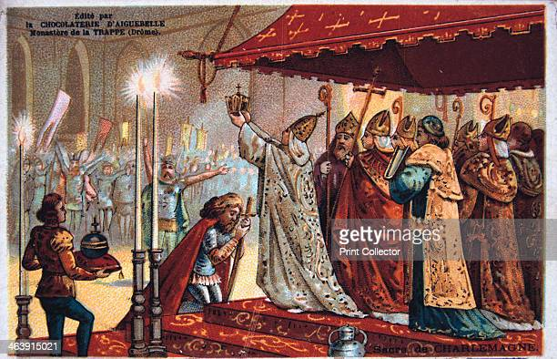 The Crowning of Charlemagne 800 AD Charlemagne king of the Franks was crowned Holy Roman Emperor in 800 AD by Leo III Charlemagne's kingdom included...