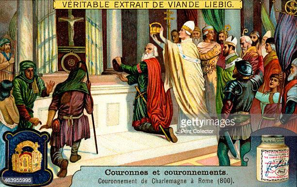 The Crowning of Charlemagne in Rome 800 French advertising for Liebig extract of meat c1900