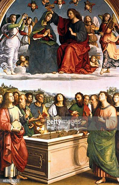 'The Crowning of the Virgin ' 15021503 The altarpiece combines two scenes common in Quattrocento iconography the Coronation and the Giving of the...