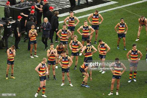 The Crows are dejected after they were defeated by the Tigers during the 2017 AFL Grand Final match between the Adelaide Crows and the Richmond...