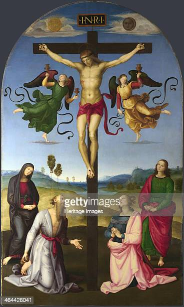 The Crucified Christ with the Virgin Mary Saints and Angels 15021503 Found in the collection of the National Gallery London