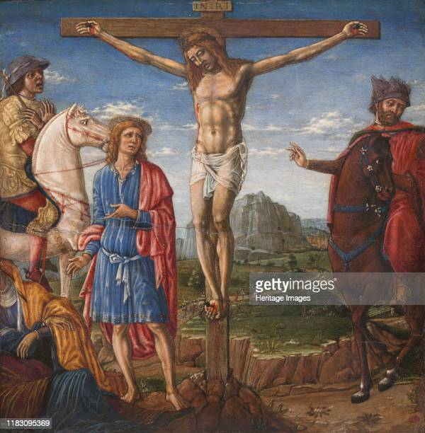The Crucifixion 1470s This small picture belonged to a predella a series of subsidiary panels consisting of narrative scenes and situated at the...