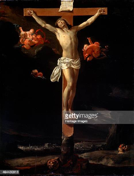 'The Crucifixion' 1637 Le Brun Charles Found in the collection of the State A Pushkin Museum of Fine Arts Moscow