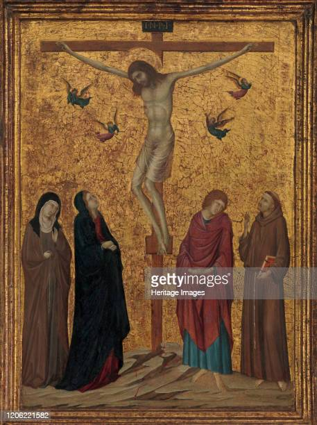 The Crucifixion, circa 1315-20. Artist Ugolino da Siena.