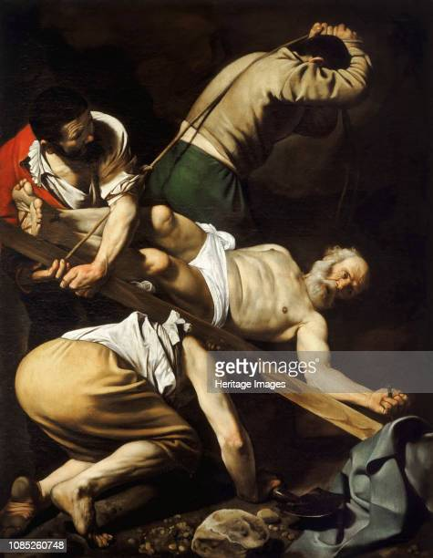 The Crucifixion of Saint Peter 1601 Found in the Collection of Santa Maria del Popolo Rome