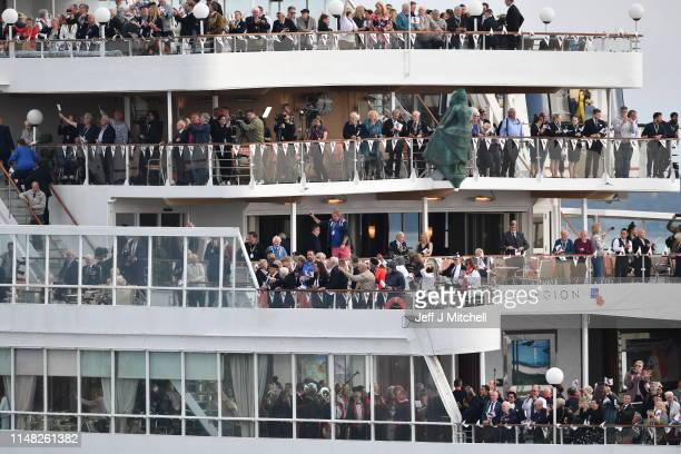 The Cruise Ship Boudicca chartered by the Royal British Region departs with veterans to retrace the journey they made 75 years ago on June 05 2019 in...