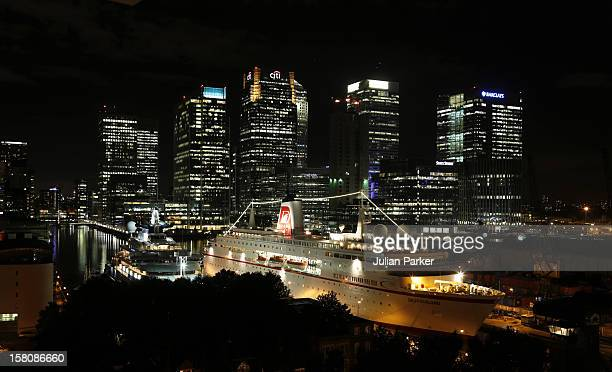 The Cruise Ship Ms Deutschland Leaves West India Dock London After Playing Host To The German Olympic Committee And Their Guests During The Olympic...