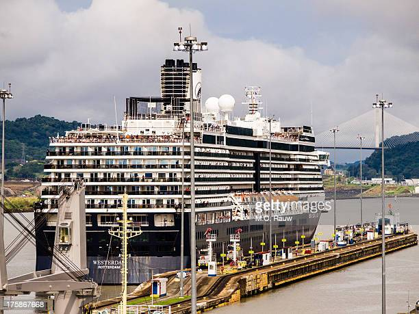 CONTENT] The cruise vessel Westerdam Rotterdam passing the Miraflores locks on the Pacific side of the Panama Canal ready for it's crossing to the...
