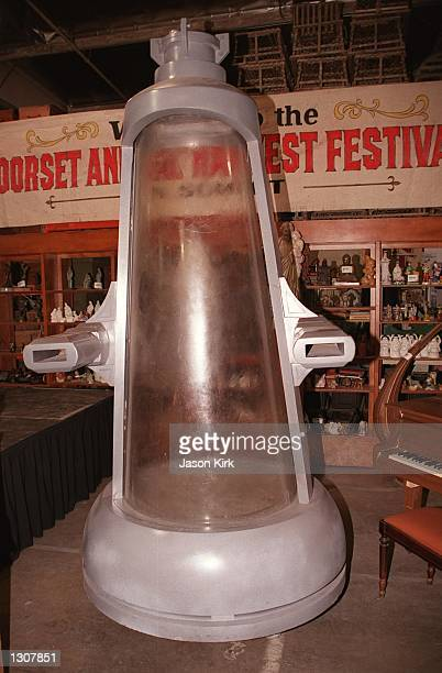 The Cryo Chamber from the movie 'Austin Powers The Spy Who Shagged Me' is displayed at the Hollywood Central Props Inc November 30 2000 in Los...
