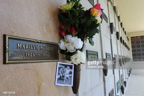 The crypt of Marilyn Monroe is seen at the Westwood Village Memorial Park Cemetery in Los Angeles August 3, 2012. August 5th will be the 50th...