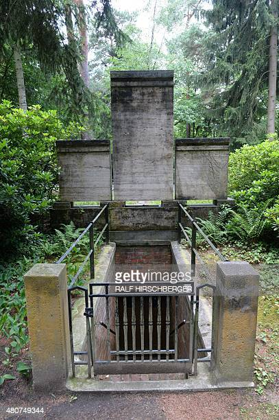 The crypt of the Friedrich Wilhelm Murnau is pictured July 15 2015 in Stahnsdorf Germany Grave robbers have stolen from a crypt the head of German...