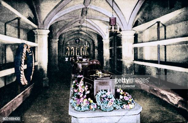 The crypt under the chancel of St George's Chapel Windsor Castle where the body of King Edward VII lies 1910 From Edward VII His Life and Times...