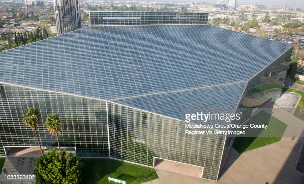The Crystal Cathedral as seen from the 13th floor of the Chapel in the Sky in the Tower of Hope at Christ Cathedral. ///ADDITIONAL INFORMATION:...