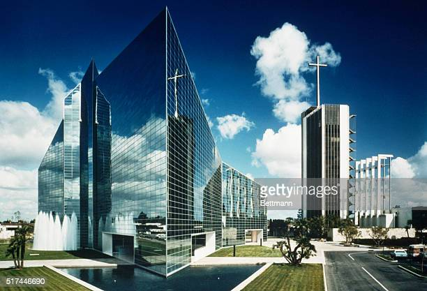 The Crystal Cathedral is the studio of TV evangelist Robert Schuller located in Garden Grove California